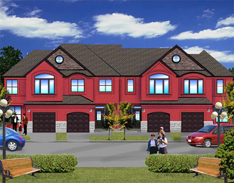 9 Powers EnClave Front Elevation.Unique Architectural renderings of Stittsville Ontario High end housing community development
