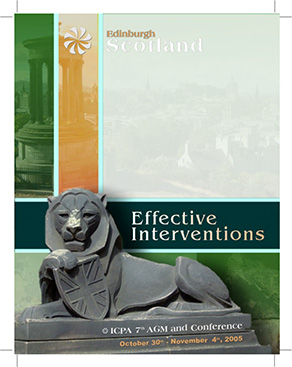 ICPA Scotland Conference design package, large scale banners, Conference booklet, online art banners