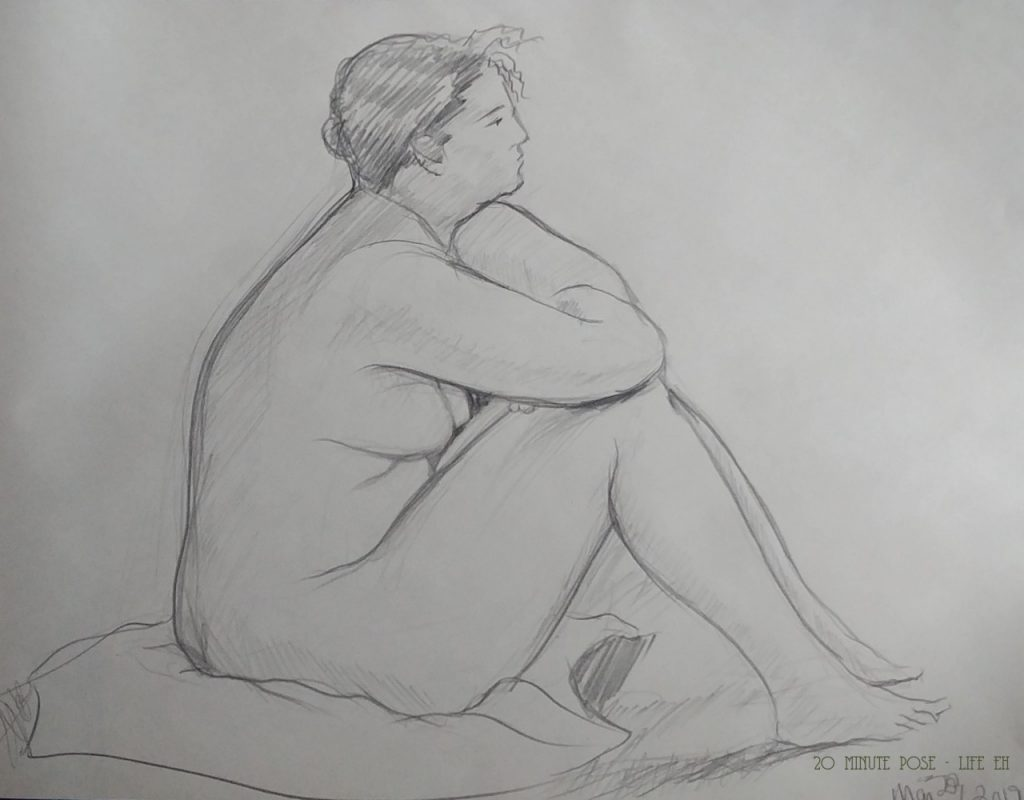 20 minute pose - life eh Life drawing