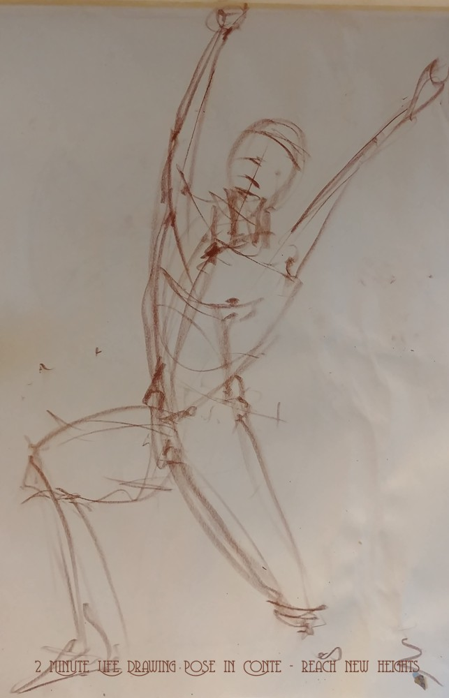 Life Drawing Male Figure in Action – Stephen Sammon Art Studio Pixelneck