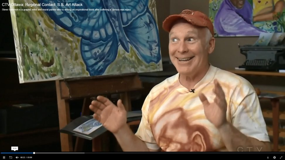 Interview with CTV Joel Haslam about my art and life after major eye accident